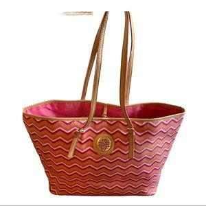 Kate Landry Colorful Zigzag Canvas Tote